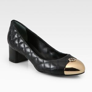 Tory Burch • Black Kaitlin Quilted Leather Pumps